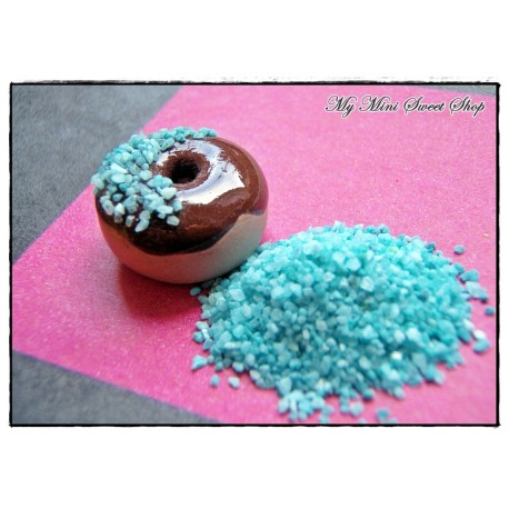 Faux sucre turquoise
