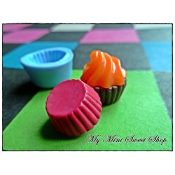 Silicone little cupcake base mould