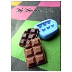 Silikonform mini Schokolade