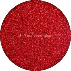 Cherry red microbeads