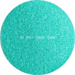Microperlen durchscheinend Aquablau