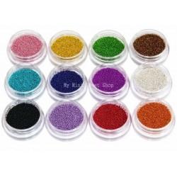 12 cajitas de micro perlas