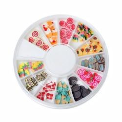 Cajita con 120 rebanadas de dulces