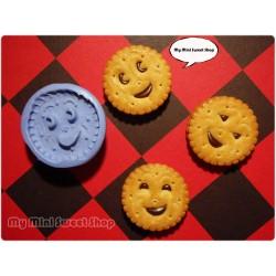 Silikonform lächelndes Gesicht Keks