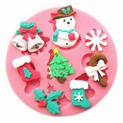 Silikonform Weihnachten 8 Kavitäten