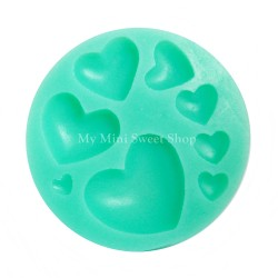 8 hearts mould