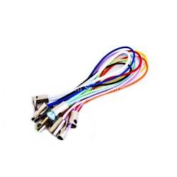 10 straps couleur assortie
