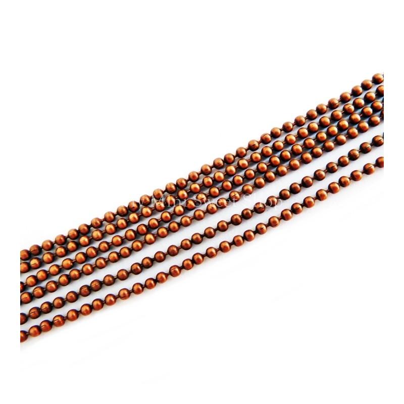 cadena de bolitas cobre