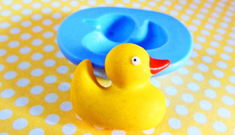 Silicone plastic duck mould