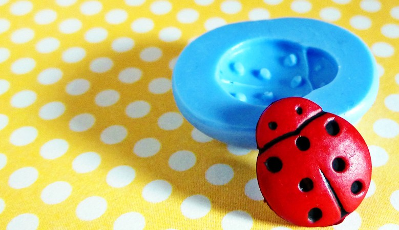 Silicone little ladybug mould