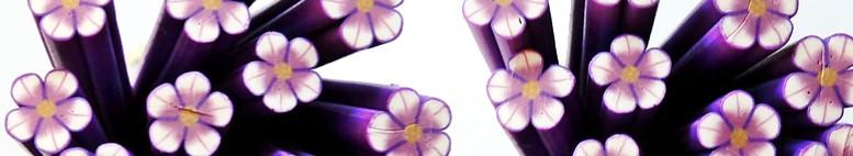 Canes Fimo fleurs