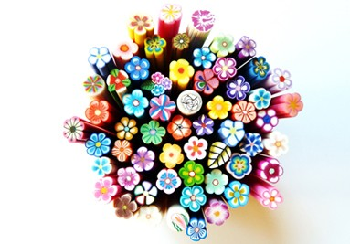 Fimo canes bloemen